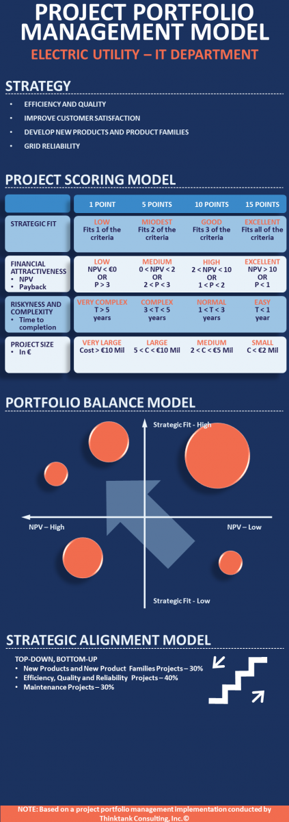 Infographic Project Portfolio Management Model