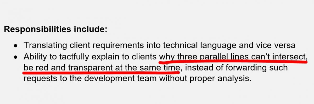 Joke Of The Day  Best Business Analyst Job Description Ever